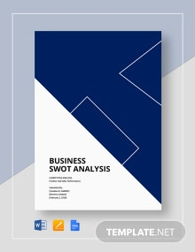 Sales competitive analysis template