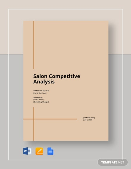Salon competitive analysis template