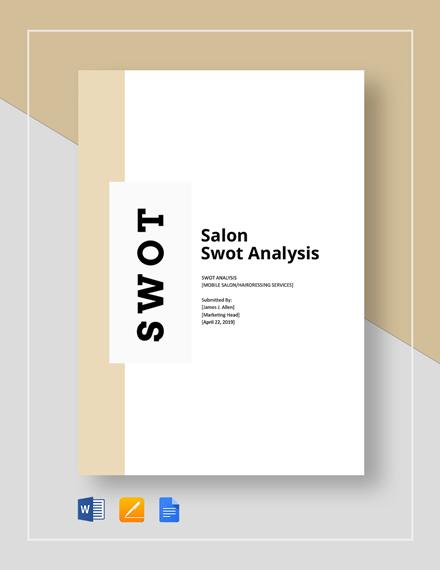 Salon swot analysis template