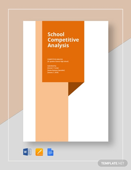School competitive analysis template