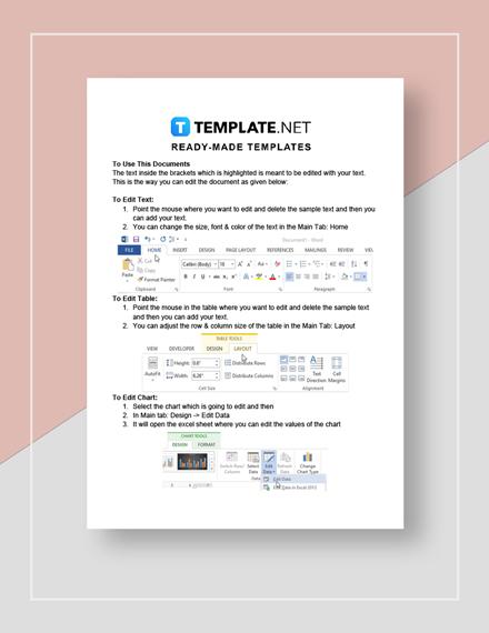 Supplier Market Analysis Instruction