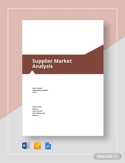 Supplier Market Analysis Template