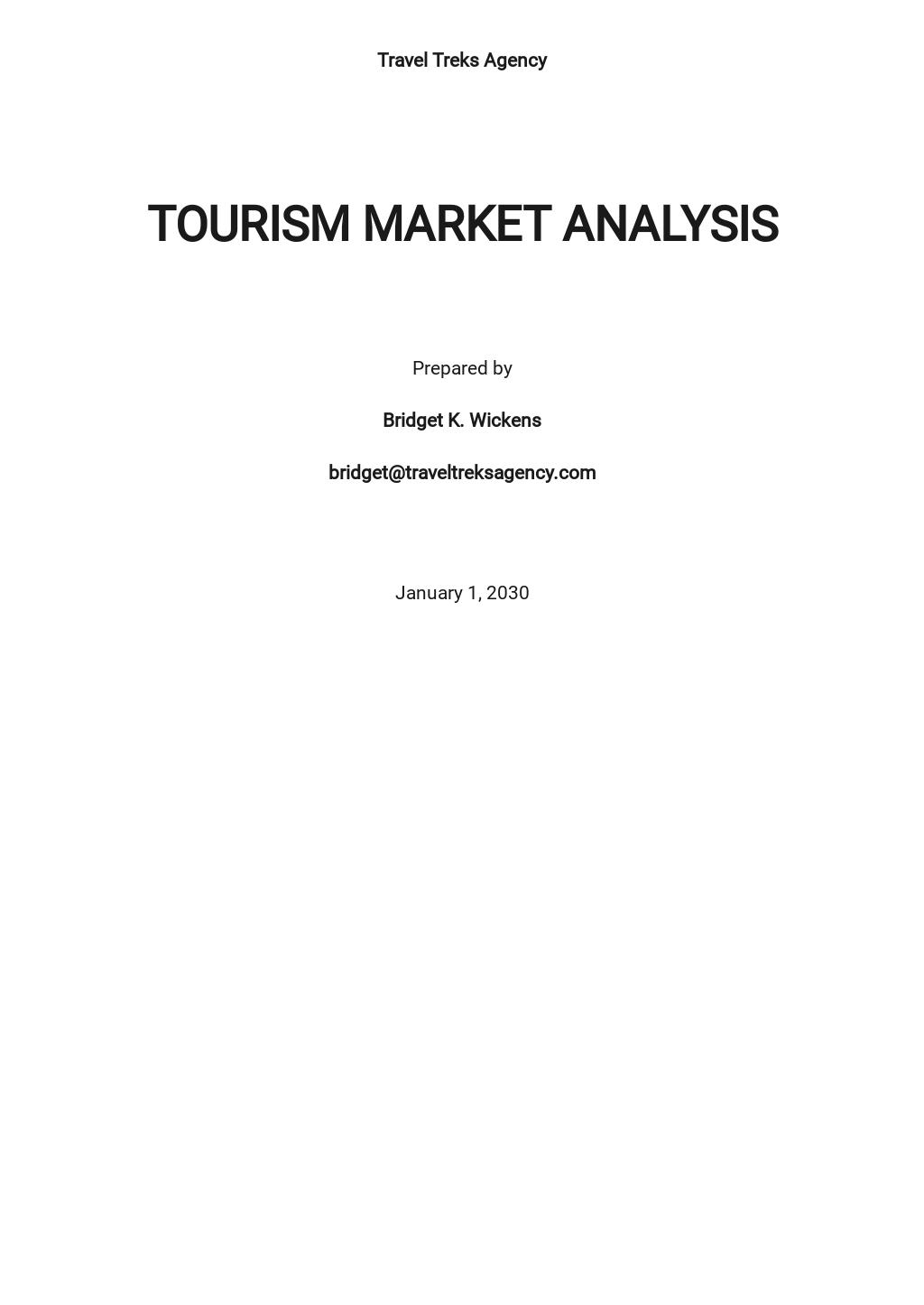 Tourism Market Analysis Template