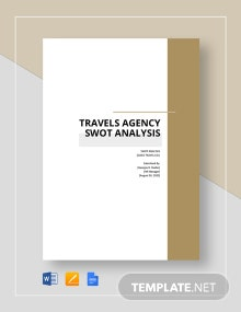 Travel Agency SWOT Analysis Template