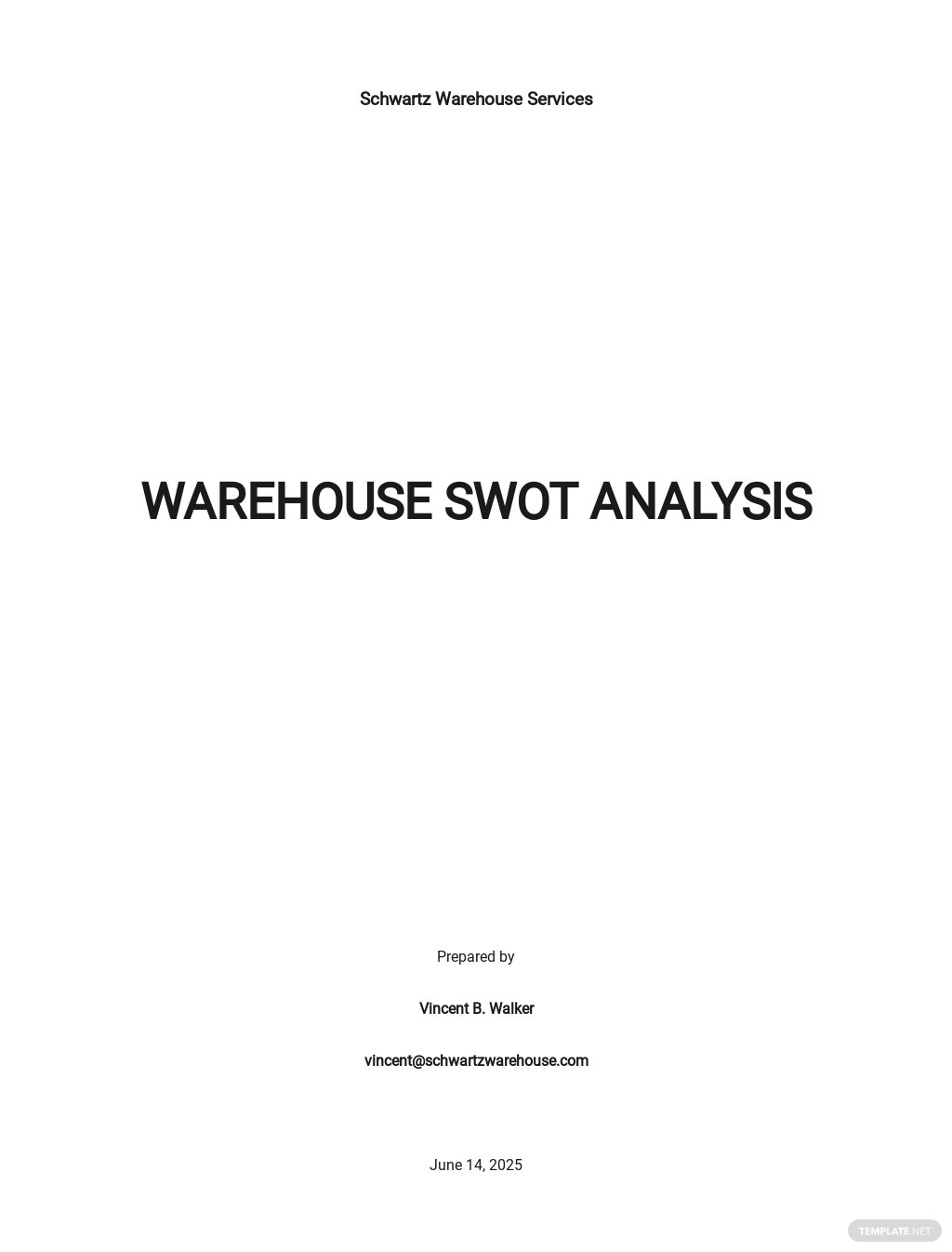 Warehouse swot analysis template