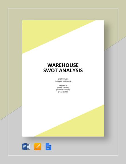 Warehouse swot analysis template