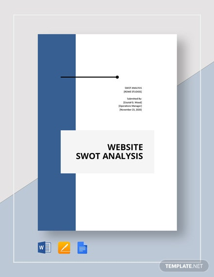 Website swot analysis template