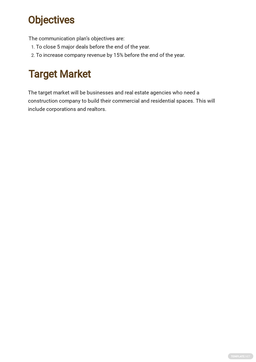 One Page Construction Communication Plan Template 1.jpe