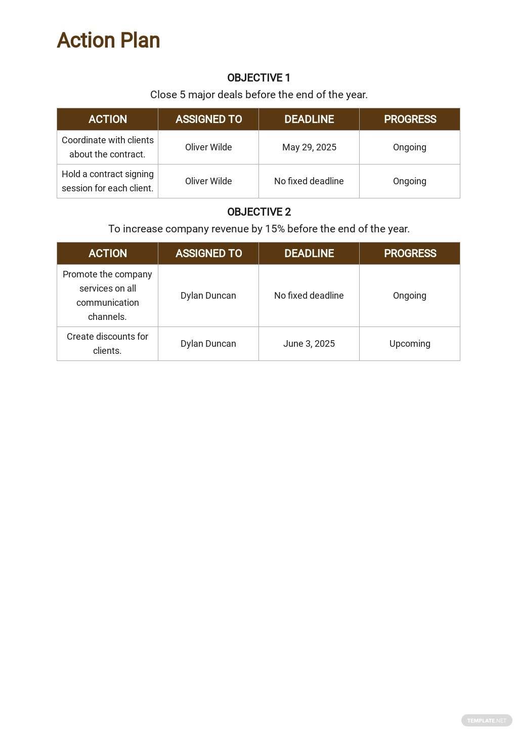 One Page Construction Communication Plan Template 4.jpe