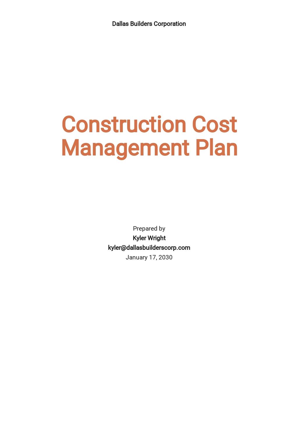 Construction Cost Management Plan Template.jpe