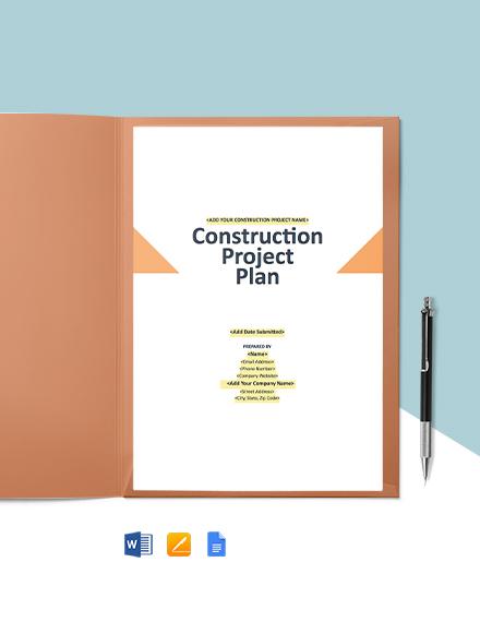 Construction Cost Management Plan Template