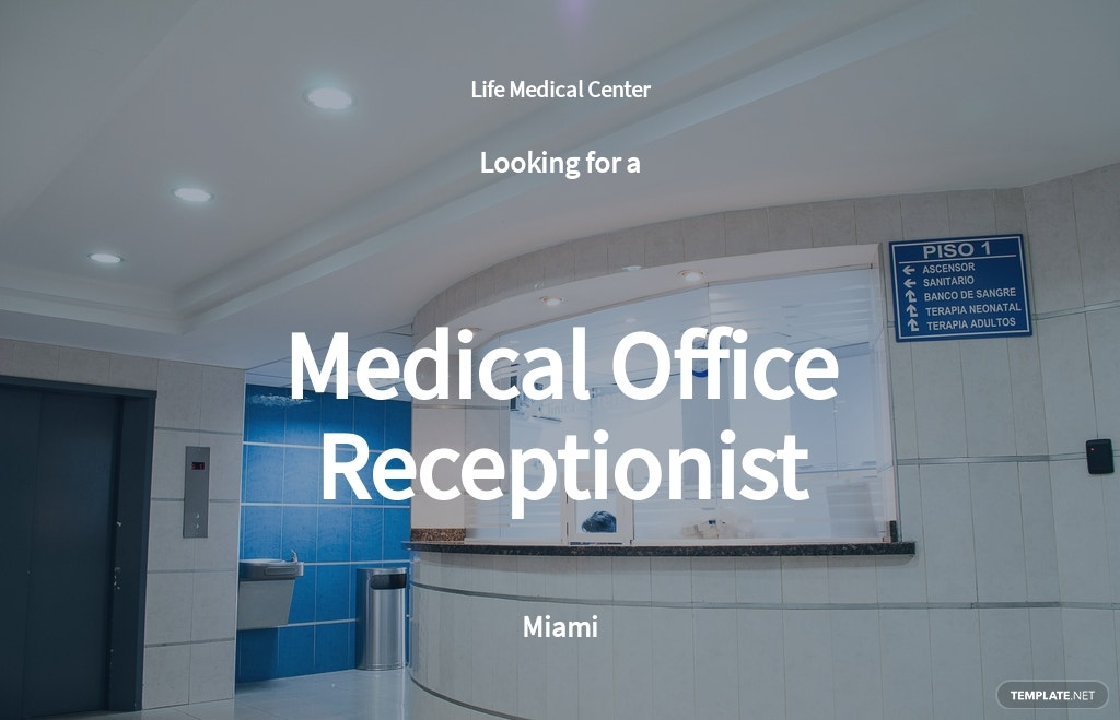 Medical Office Receptionist Job Ad and Description Template