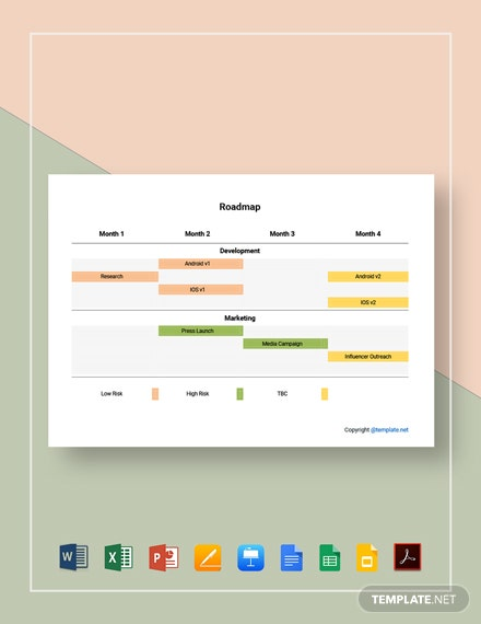 Free Simple Visio Roadmap Template
