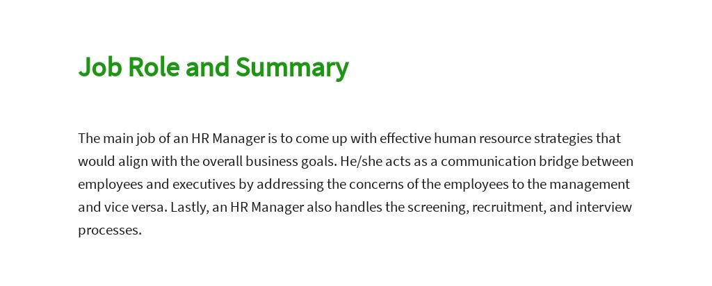 Free HR Manager Job AD/Description Template 2.jpe