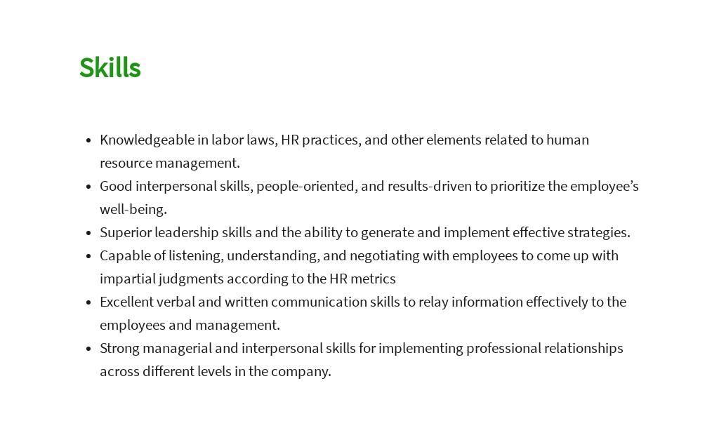 Free HR Manager Job AD/Description Template 4.jpe