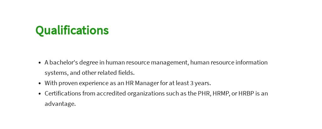 Free HR Manager Job AD/Description Template 5.jpe