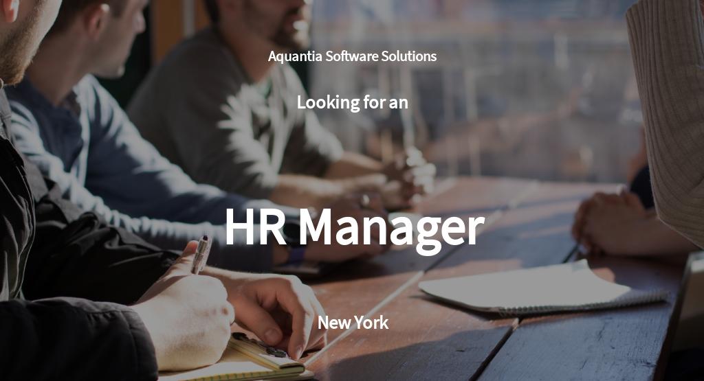 Free HR Manager Job AD/Description Template.jpe