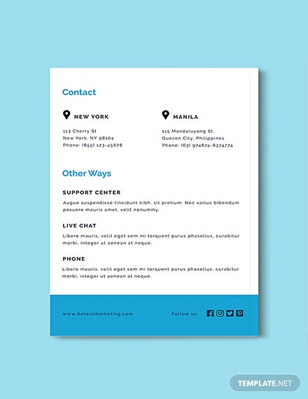 Downloadable Marketing Media Kit Template
