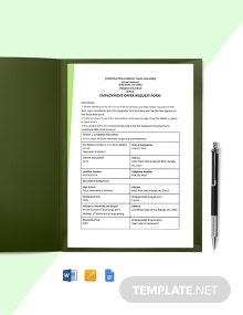 Construction Employment Offer Request Template
