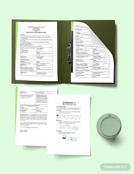 Construction Employment Offer Request Template Download