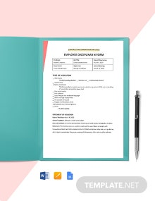 Construction Disciplinary Form Template