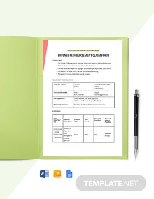 Construction Expense Claim Form Template