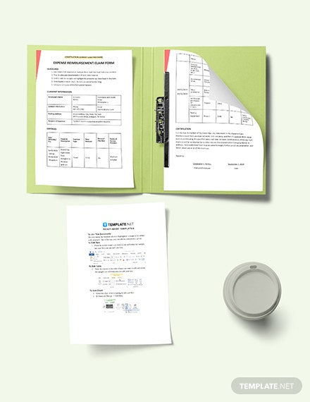 Construction Expense Claim Form Template Printable
