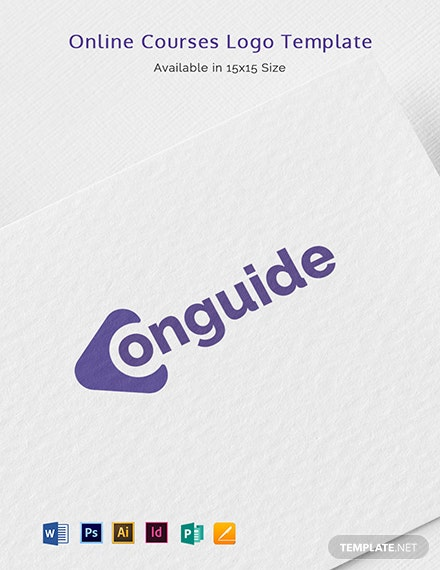 Online Courses Logo Template