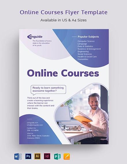 Online Courses Flyer Template