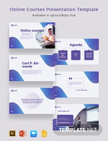 Online Courses Presentation Template
