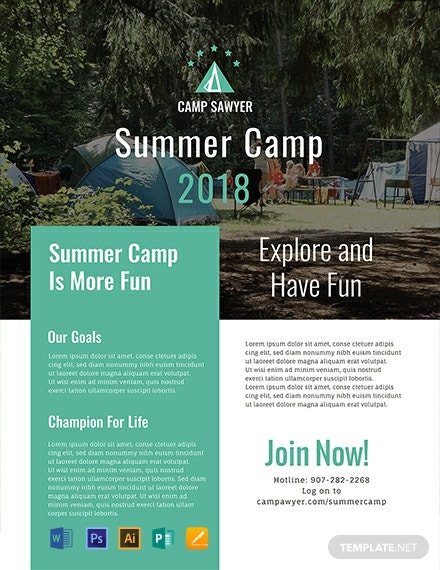 Free Summer Camp Pamphlet Template