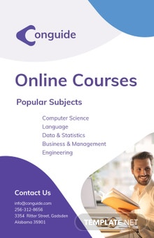 Online Courses Poster Template
