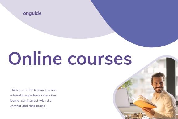 Online Courses Postcard Template