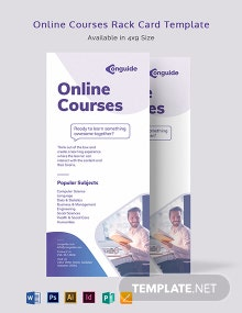 Online Courses Rack Card Template