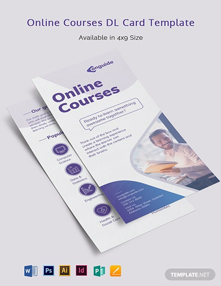Online Courses DL Card Template
