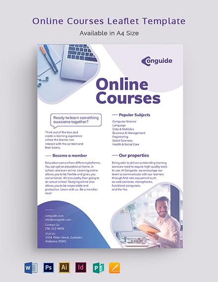 Online Courses Leaflet Template