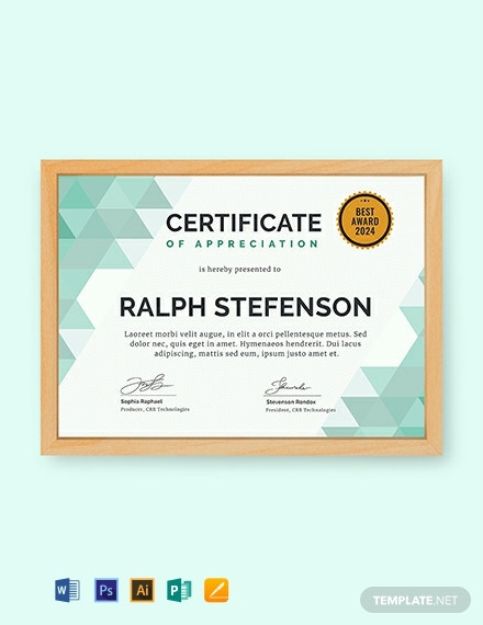 FREE Modern Certificate of Participation Template - Word