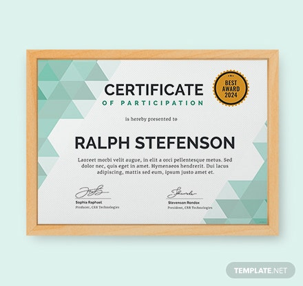 Free certificate templates download ready made template modern certificate of participation template yelopaper Images
