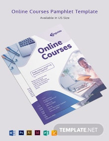 Online Courses Pamphlet Template
