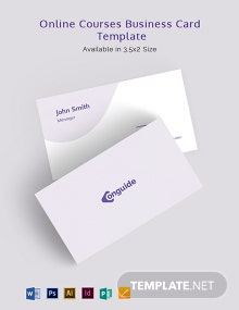 Online Courses Business Card Template