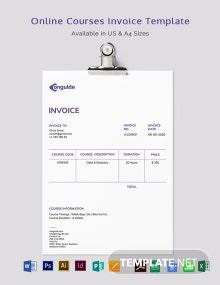 Online Courses Invoice Template