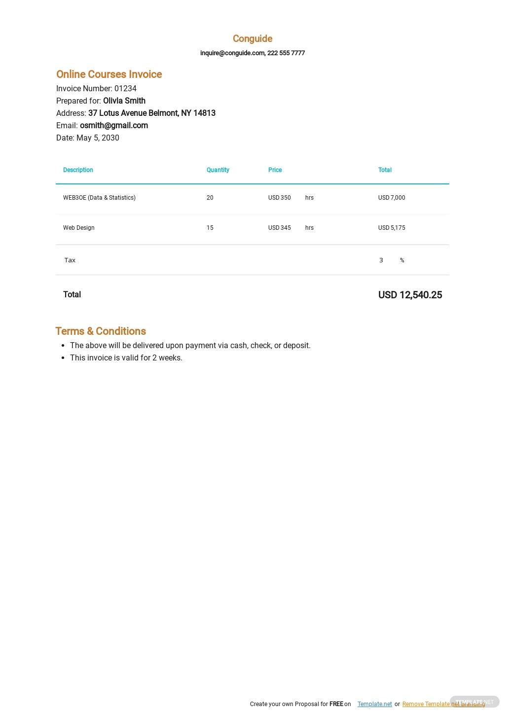 Online Courses Invoice Template.jpe