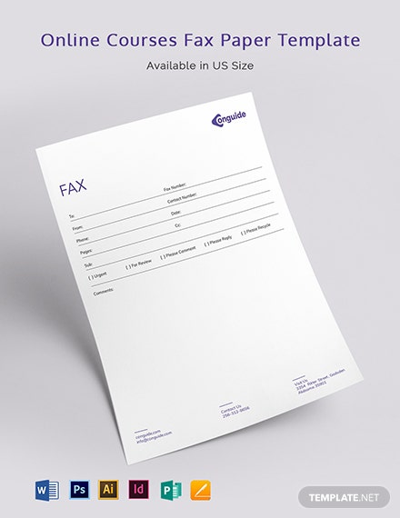 Online Courses Fax Paper Template