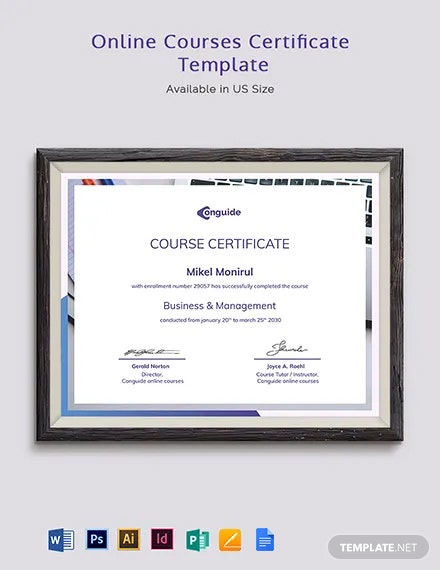 Online courses Certificate