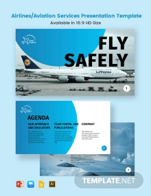 Airlines/Aviation Services Presentation Template