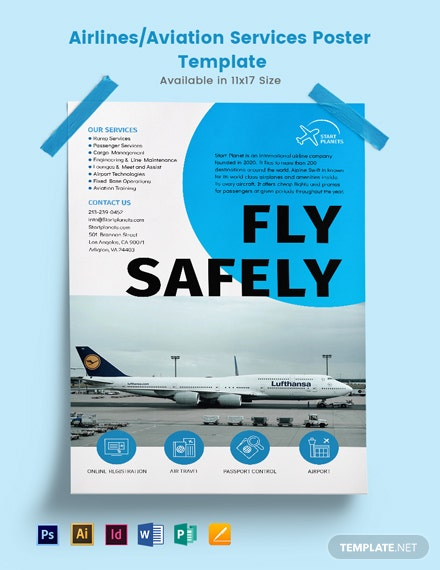Airlines/Aviation Services Poster Template
