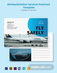 Airlines/Aviation Services Postcard Template