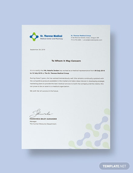 FREE Medical Experience Certificate Template: Download 324 ...