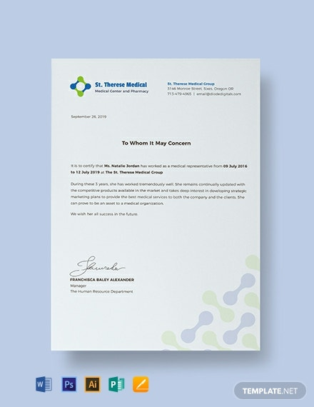 Free Medical Experience Certificate Template