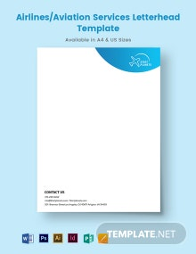 Airlines/Aviation Services Letterhead Template